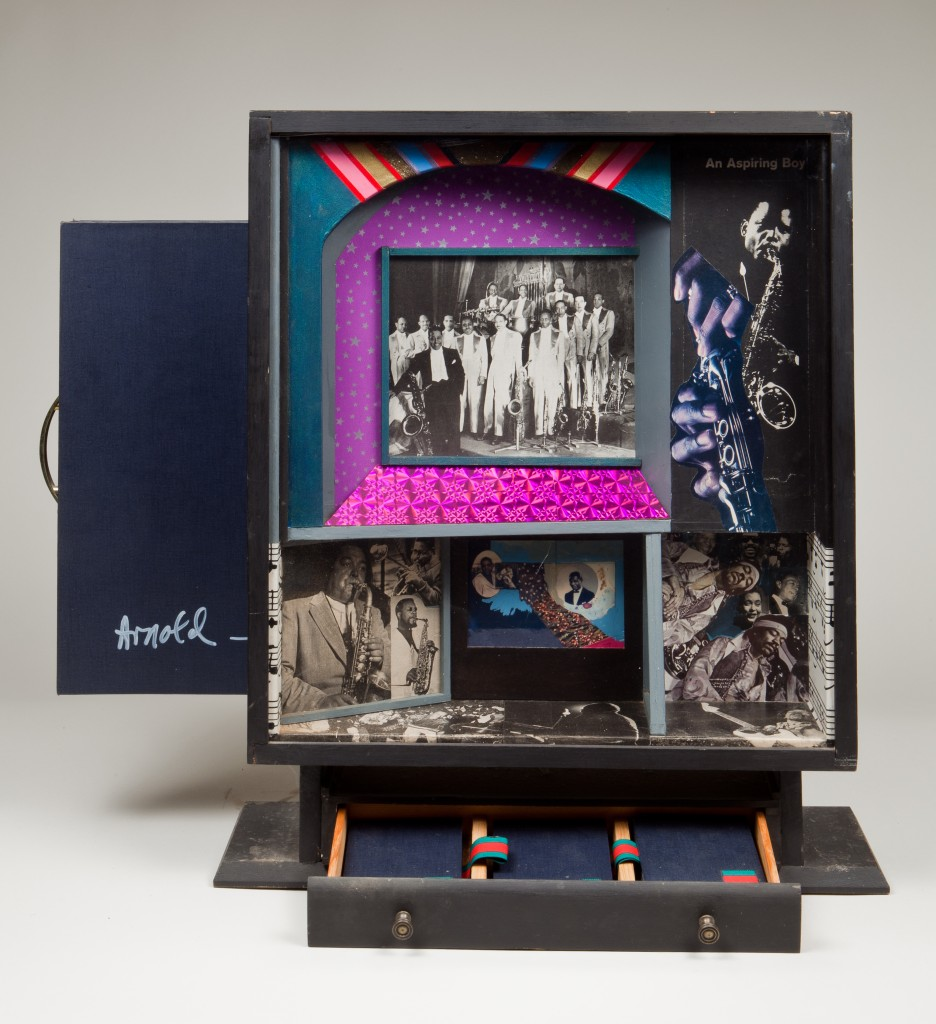 Ralph Arnold, Black Music Box, box construction, 1982.