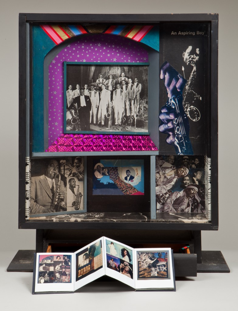 Ralph Arnold, Black Music Box, assemblage, 1982.