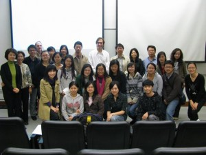 Chris and his class at CUHK