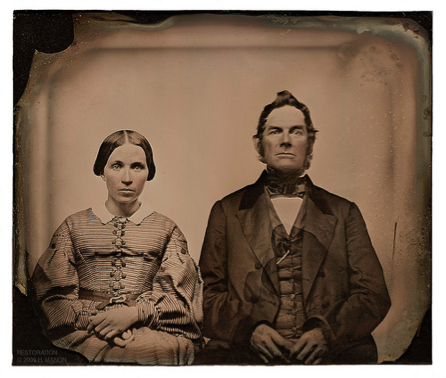 """Figure 2: """"Photography was able to capture the 'harmony and charm' of a face, but often failed to capture a smile."""" Ca. 1850s Ambrotype."""