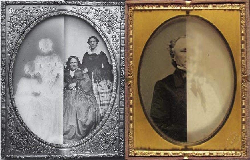 Figure 5: 1850s Ambrotypes showing positive and negative effects.