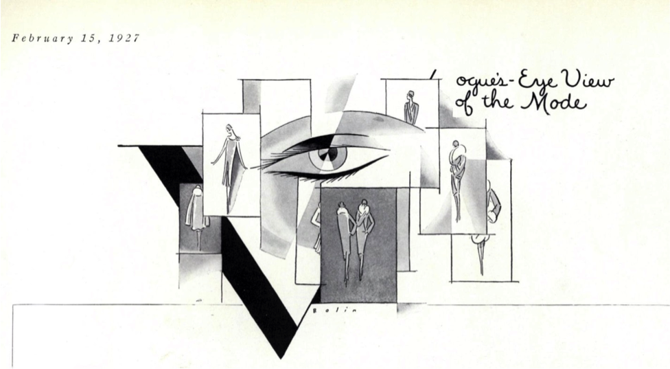 "Figure 1 – ""Vogue's Eye View: Chic."" Vogue 69, no. 4 (Feb 15, 1927): 51-51."