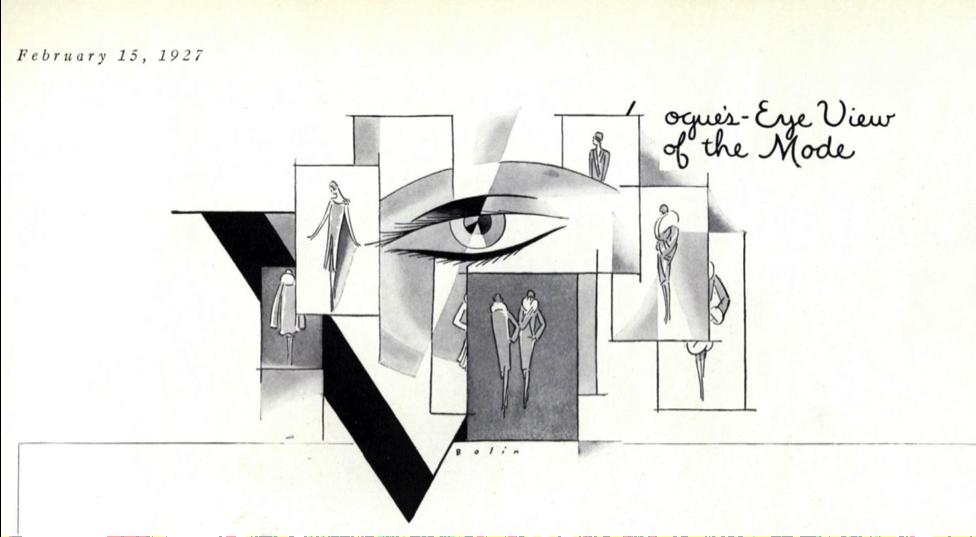 "Figure 1 – ""Vogue's Eye View: Chic."" Vogue 69, no. 4 (Feb 15, 1927): 51-51."