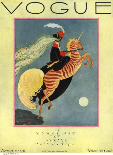 "Figure 3 - ""Cover: Vogue."" Vogue 69, no. 4 (Feb 15, 1927): C1."