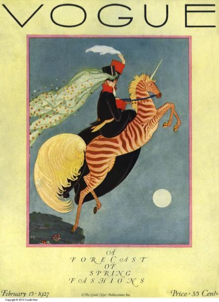 """Figure 3 - """"Cover: Vogue."""" Vogue 69, no. 4 (Feb 15, 1927): C1."""