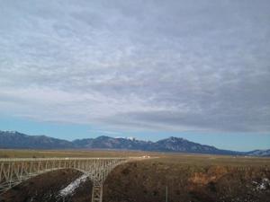 A bridge crosses the Rio Grande - Somewhere in New Mexico