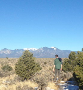 The author looks for the Rio Grande - Somewhere in New Mexico