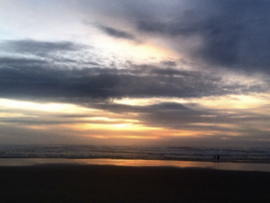 Sunset on the Pacific - Somewhere along the Oregon coast