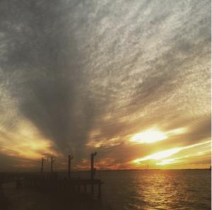 Sunset on the Gulf of Mexico - Grand Isle, Louisiana