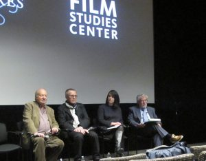 From left to right: Ivan Passer, Milos Stehlik, Alice Lovejoy, and Herbert Eagle