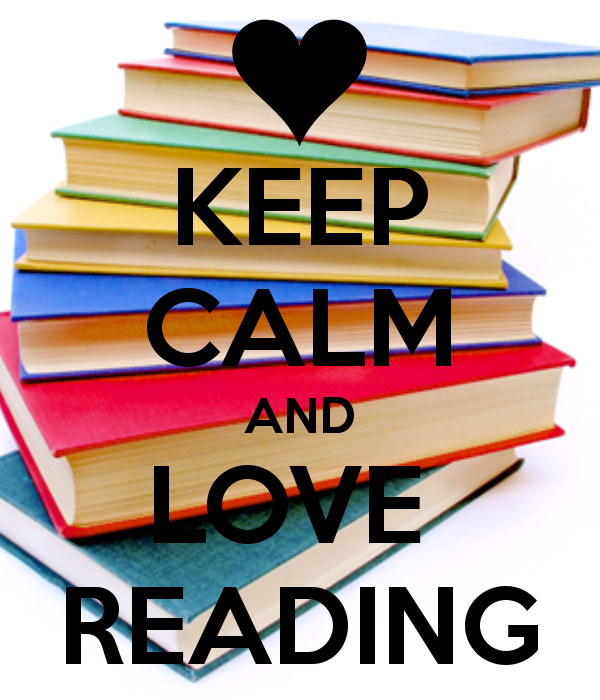 icon that says 'Keep Calm and Love Reading'