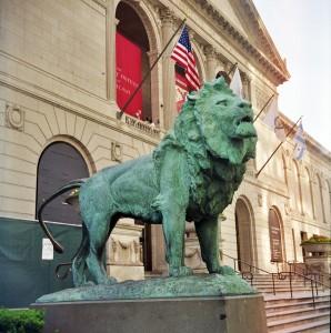 Art_Institute_of_Chicago_Lion_Statue_(2-D)