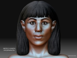 Joshua Harker's recreation of Mummy Meresamun's face. See more at joshharker.com.