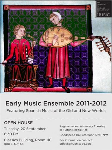 Early Music Ensemble Open House 9 20 University Of