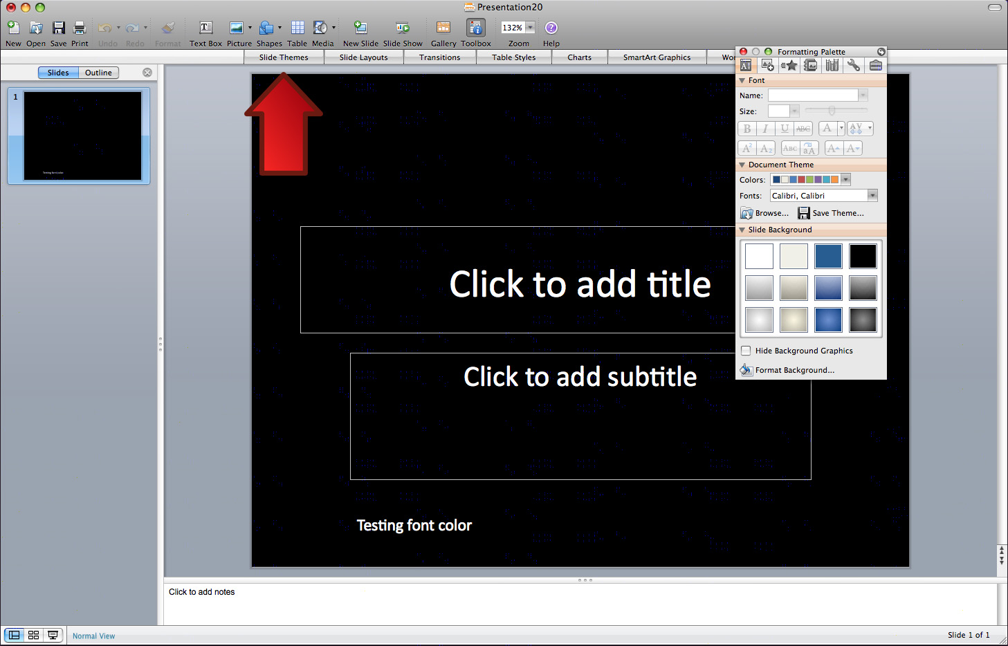 Creating a Slide Theme in PowerPoint 2008