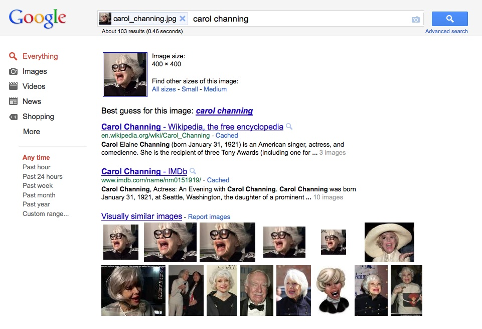 reverse image search google