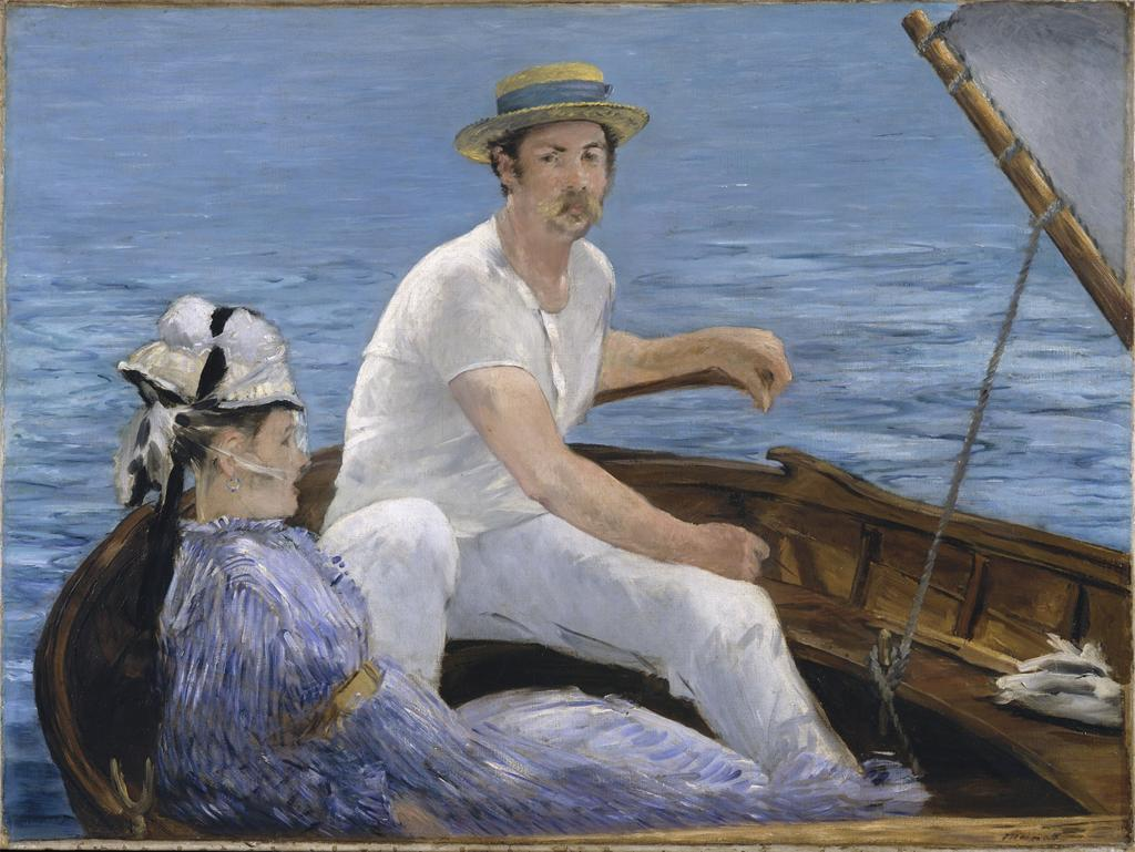 Édouard Manet, Boating, 1874. From ARTstor's Images for Academic Publishing