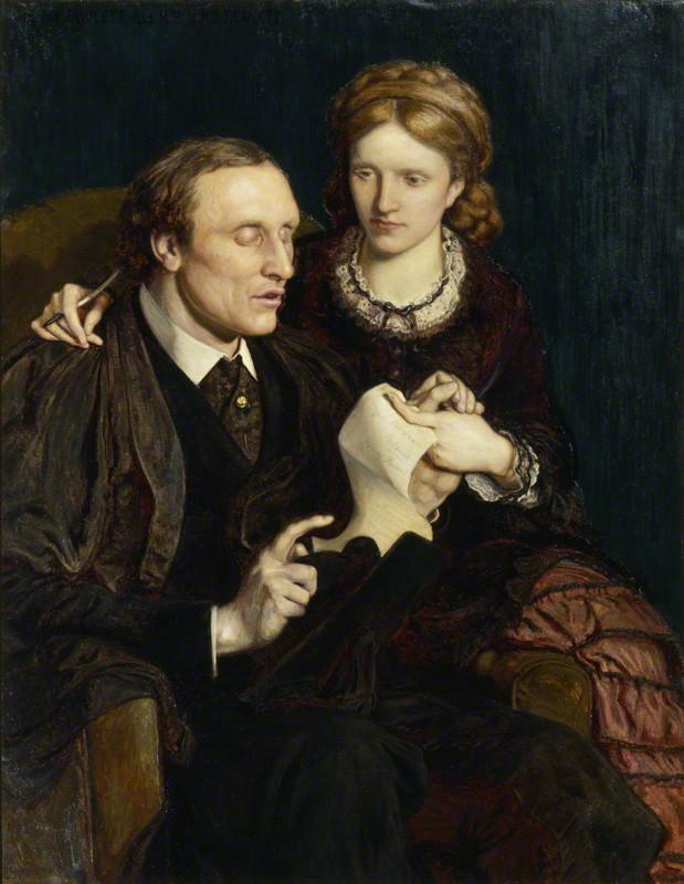 Henry Fawcett; Dame Millicent Garrett Fawcett (née Garrett) by Ford Madox Brown oil on canvas, 1872 NPG 1603 © National Portrait Gallery, London