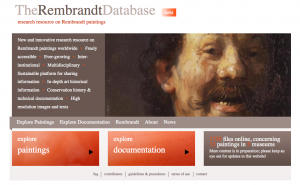 Screenshot from The Rembrandt Database