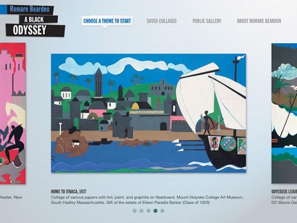 Romare Bearden app theme page
