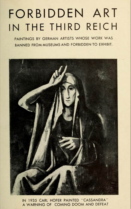 Forbidden art in the Third Reich: paintings by German artists whose work was banned from museums and forbidden to exhibit (1945?)