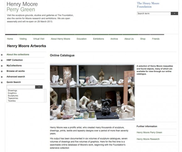 Henry Moore Artworks online collection