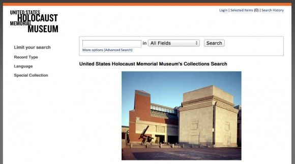 United States Holocaust Memorial Museum Search Page