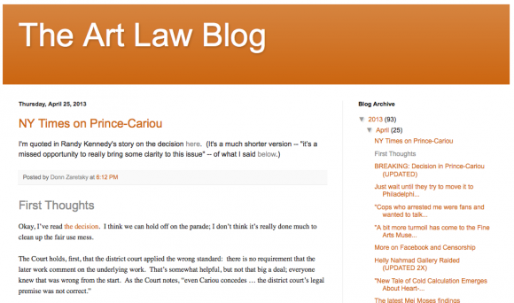 Art Law Blog