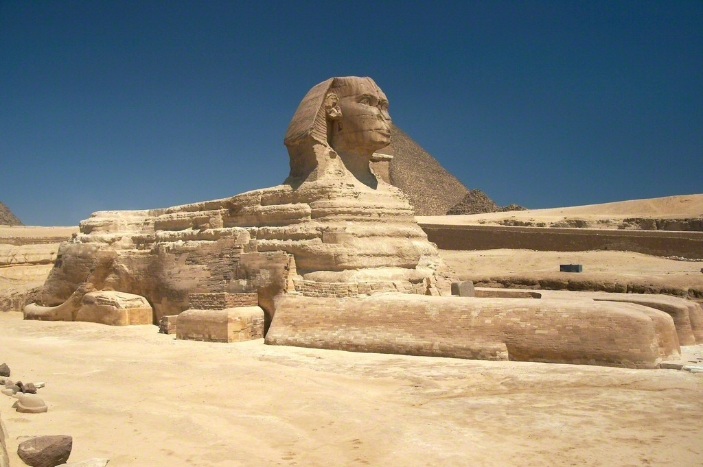 The Great Sphinx, Giza, Egypt, Dynasty 4, ca. 2613-2494 B.C. Sandstone 779 1/2 in 1980 cm