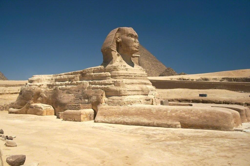 The Great Sphinx, Giza, Egypt, Dynasty 4, ca. 2613-2494 B.C. Sandstone 779 1/2 in 1980 cm