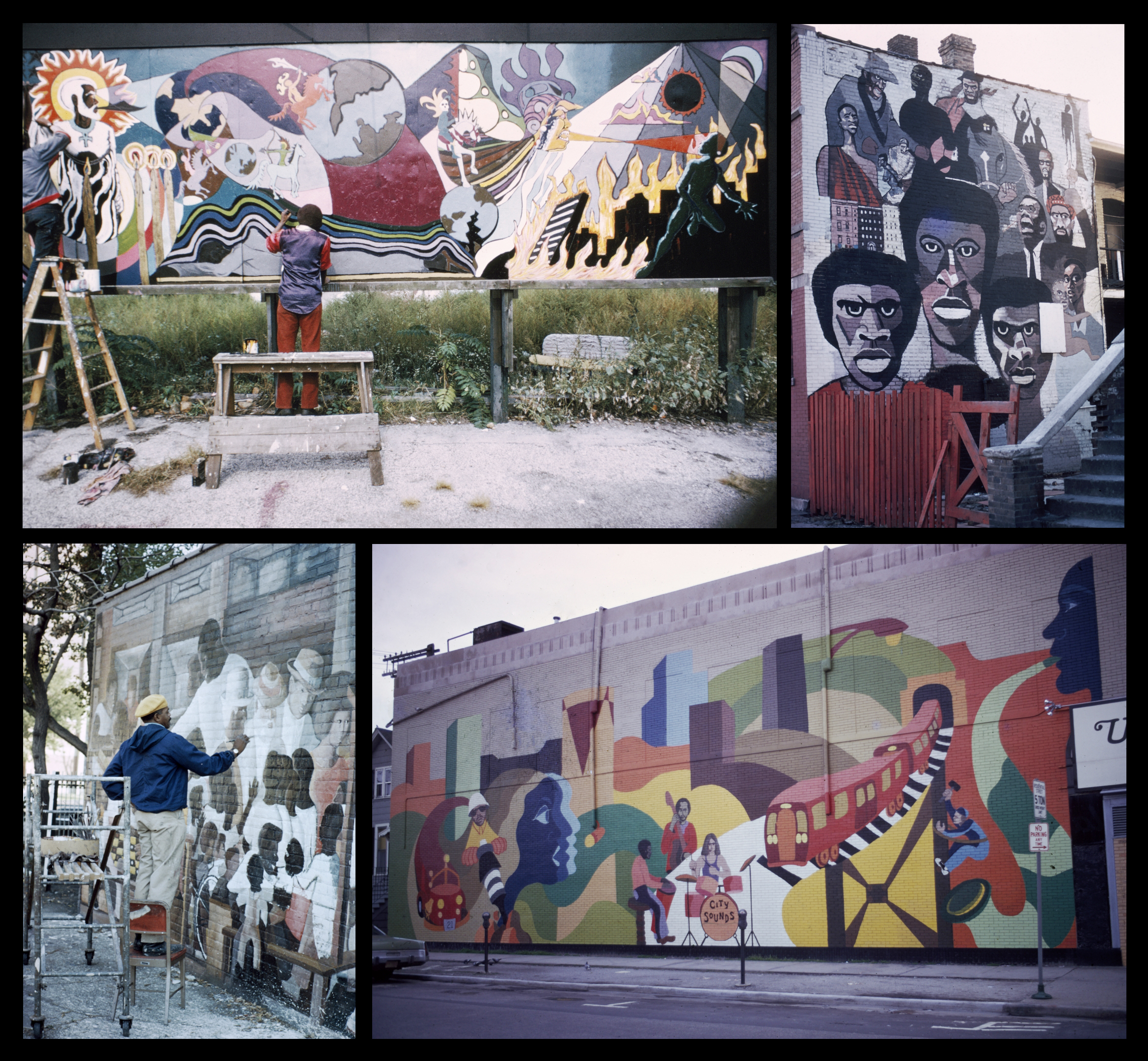 African american for Telephone mural 1970