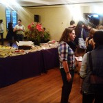 Reception following the conference on November 2, 2013.